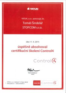 Montáž a servis zabezpečovacích systémů Control4 Yatun